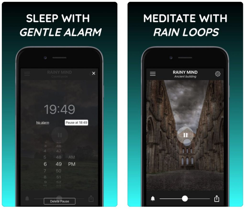 Rainy Mind: relax, focus, sleep with rain sounds - Mobile